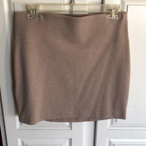Bcbgeneration power mini skirt tan size M